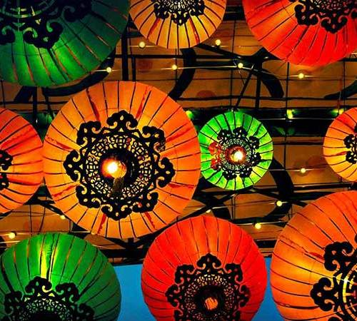colourful chinese lanterns