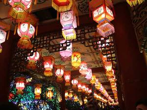 Traditional chinese light lanterns