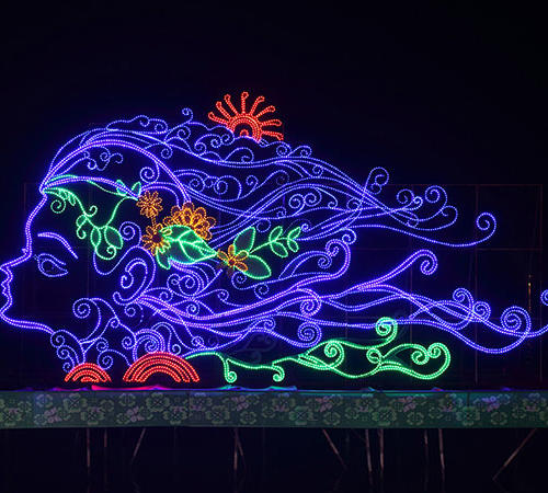 light sculpture-led chinese lantern lights
