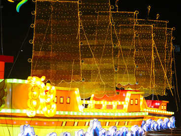 China lights/sculpture lantern-barge