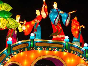 chinese silk lanterns-The fairy dancing