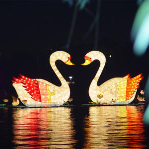 Chinese Animal Lanterns-White Swan
