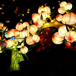 Electric Chinese Lanterns- Flat Peach
