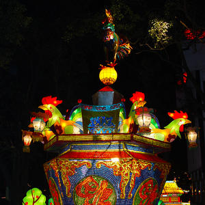 lantern chinese-chinese traditional style-cock