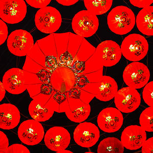 lunar new year lanterns-Red lantern
