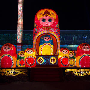 asian lantern lamp-Matryoshka Doll