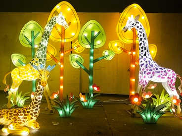 chinese lantern ideas-fairy tale world -Deer in the jungle