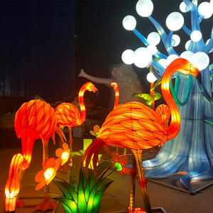 cool chinese lanterns-lantern on land-flamingo