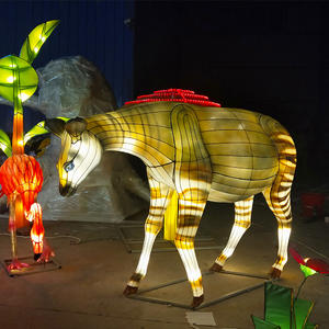Chinese Lantern Display-lantern On Land-deer