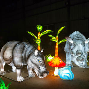 Chinese Lantern Images-lantern On Land- Rhinoceros