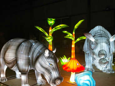 chinese lantern light festival-lantern on land-hippo