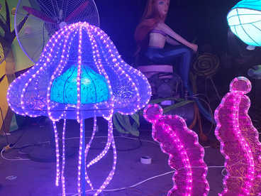 Lantern technique-LED cuplture- jellyfish