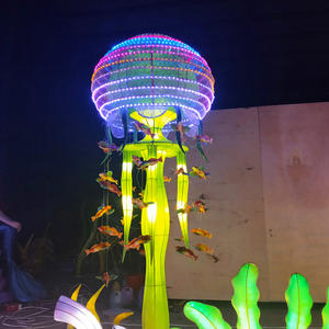 cloth chinese lanterns-Jellyfish modeling creative design lantern