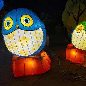 asian lantern lights-The round cartoon bird design in the fairy tale