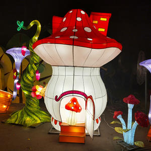 chinese lantern art and craft-The Mushroom family and their house