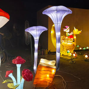 chinese lantern art and craft-A mushroom sprouted from the stump