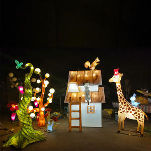 Chinese Lantern Art And Craft-Mr. Giraffe And His Neighbors