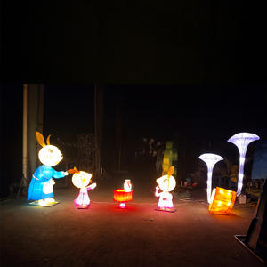 Chinese Lantern Art And Craft-Mother Rabbit And Her Children