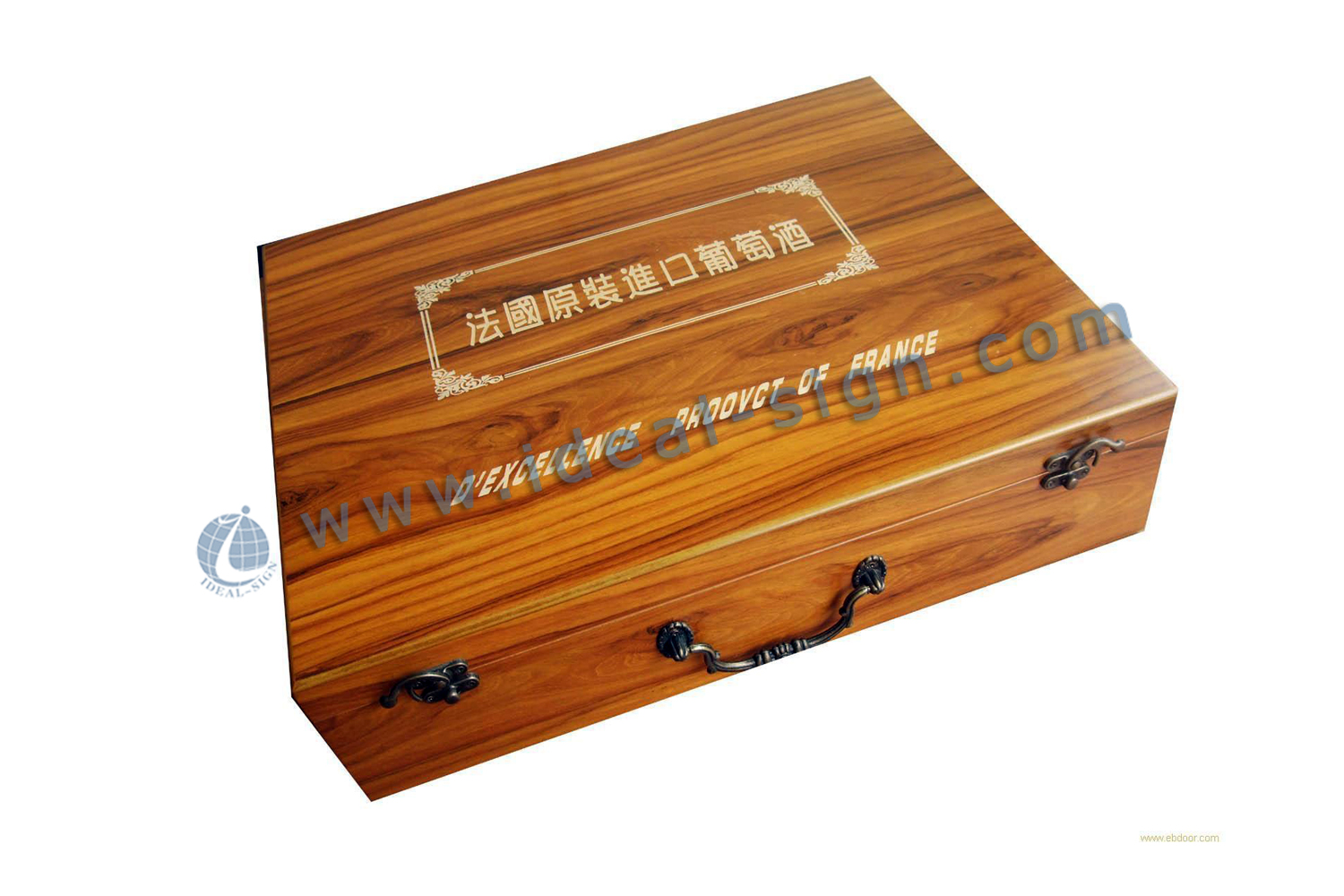 Classical style wooden wine packing box