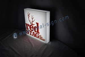 red stag acrylic led light box