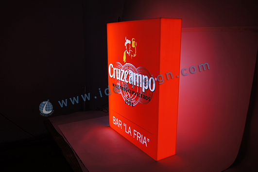 custom acrylic led light box with logo printed