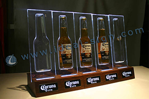 liquor bottle display with 5 holders