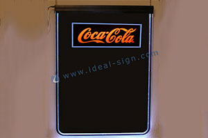 LED writting board for Coca Cola