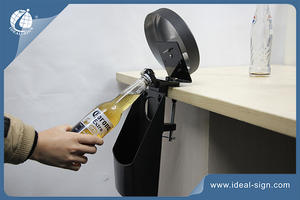 Customized Mental Bar Mounted Bottle Opener With Wooden Caps Holders
