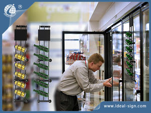 Fridge Bottle And Can Metal Racks With Clear Suction Cup Hook