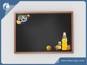 China supplier for wooden frame signs Traditional Advertising Chalkboard for beverage brand promotion