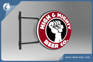 Vacuum Formed Light Box Exterior illuminated bar signs for beer and drink brands
