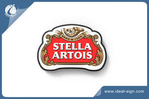 OEM Double Sides Printing Beer Signs With Metal Frames