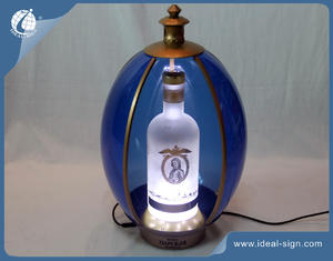 Russian Style Egg Shape Illuminate Bottle Glorifier