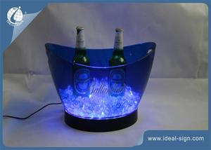 Practical 7.5L 3 Color LED Ice Bucket Champagne Wine Beer Chiller