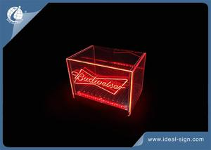 Carton Shaped LED Acrylic Ice Bucket For Budweiser Marketing