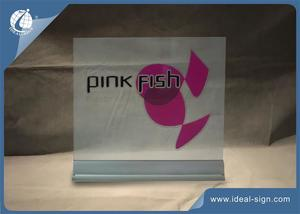 Silk Printed Acrylic LED Edge-Lit Display Aluminum Base 36X29.8X5cm
