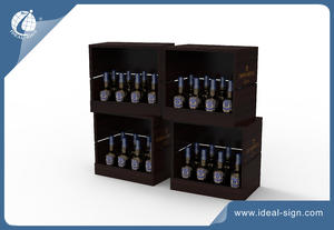Square Wine Rack With One Side Open