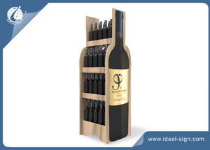 China supplier for personalized natural wooden wine racks  wine shelf holds