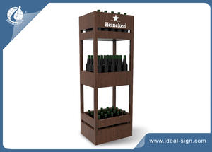 Custom home decor & Bar wooden beer canddy and wooden wine Rack supplier