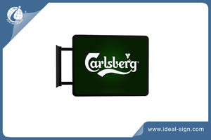 Vacuum Formed Light Box Exterior Signs Carlsberg Bar Signs factory