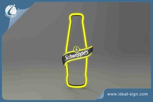 Neon Effect Led Sign In Bottle Shape