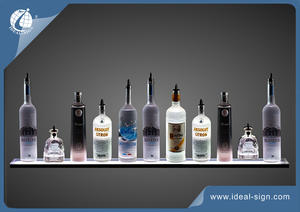 Aluminum LED Lighted Bottle Display With 3 Vivid Color