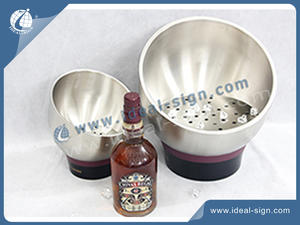 Chivas Bar Ice Bucket available for bar / supermarket Best Supplier for Stainless Steel Beer Cooling Tub and Display