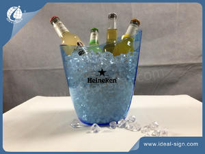 Custom injection mold plastic beverage tubs wine ice buckets for bars