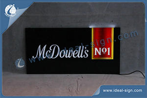 "24""by 12"" McDowell's NO1 Slim Light Sign With OEM Service Avaliable"