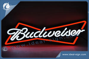 Budweiser Beer PVC LED Optical Neon Signs Circuit Board And Injection Molded ABS Frame