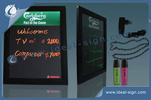 Custom led writing blackboard fluorescent led writing board for wholesale