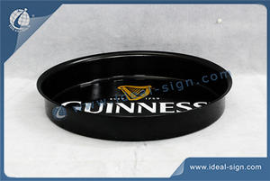 Round Tin Plate Serving Tray For Guinness Display