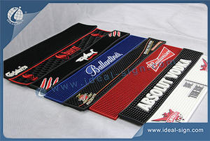 Wholesale custom rubber pvc bar matts bar spill mats for sale