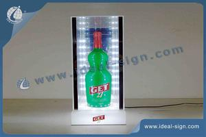 China supplier for personalized illuminated acrylic bottle display stand for wholesale